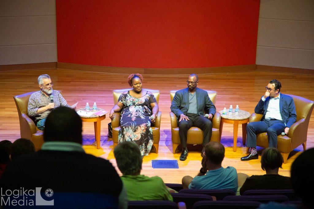 Panel members at film screening