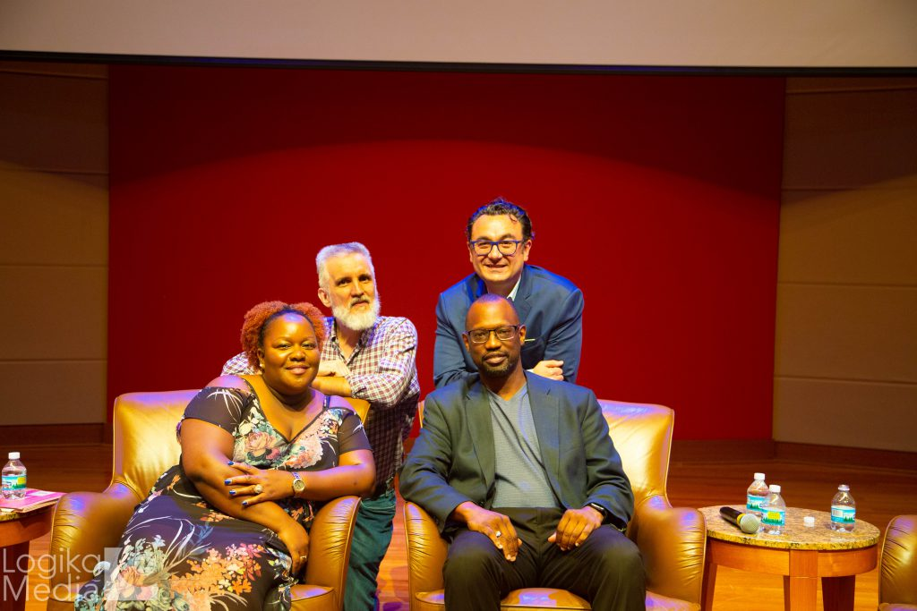 Panelists at film screening event