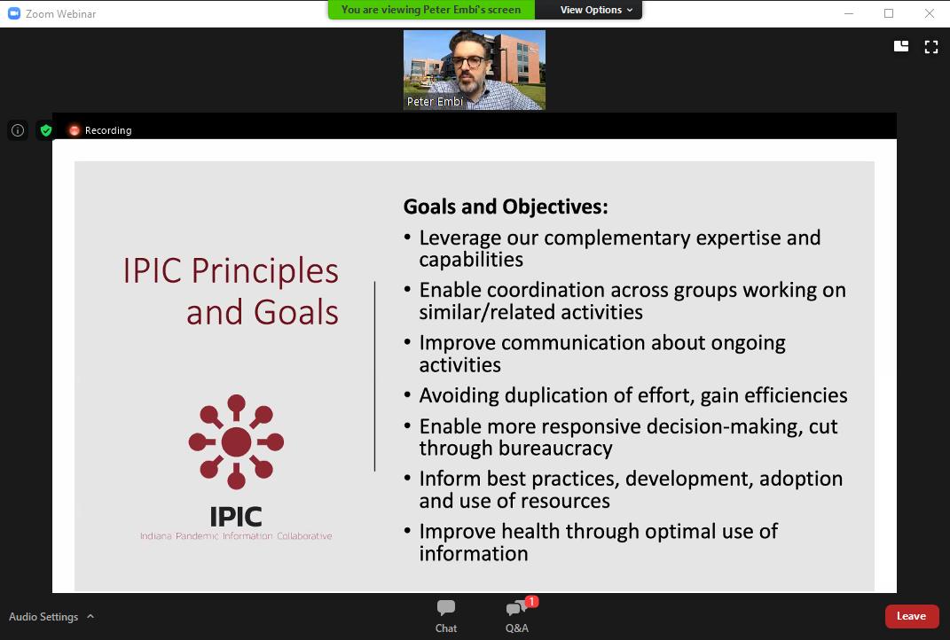 Peter Embi's presentation