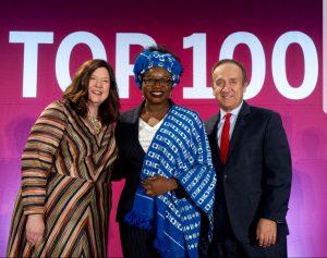 Aishat at Top 100 award ceremony