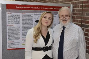 Anna with her father at 2015 Project SEED Poster Session