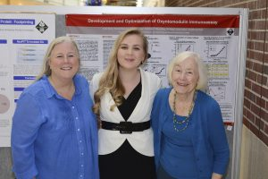 Anna with her mother and grandmother at the 2015 Project SEED Poster Session