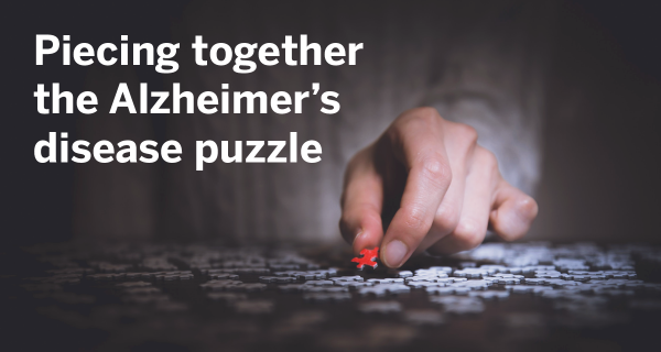 Picture of hand completing puzzle with the text
