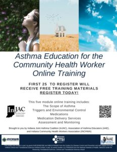 Connections IN Health's asthma education for the community health worker online training registration information