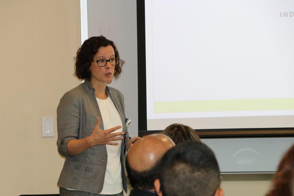 Rachel Katzenellenbogen, MD, presenting at Showalter awards