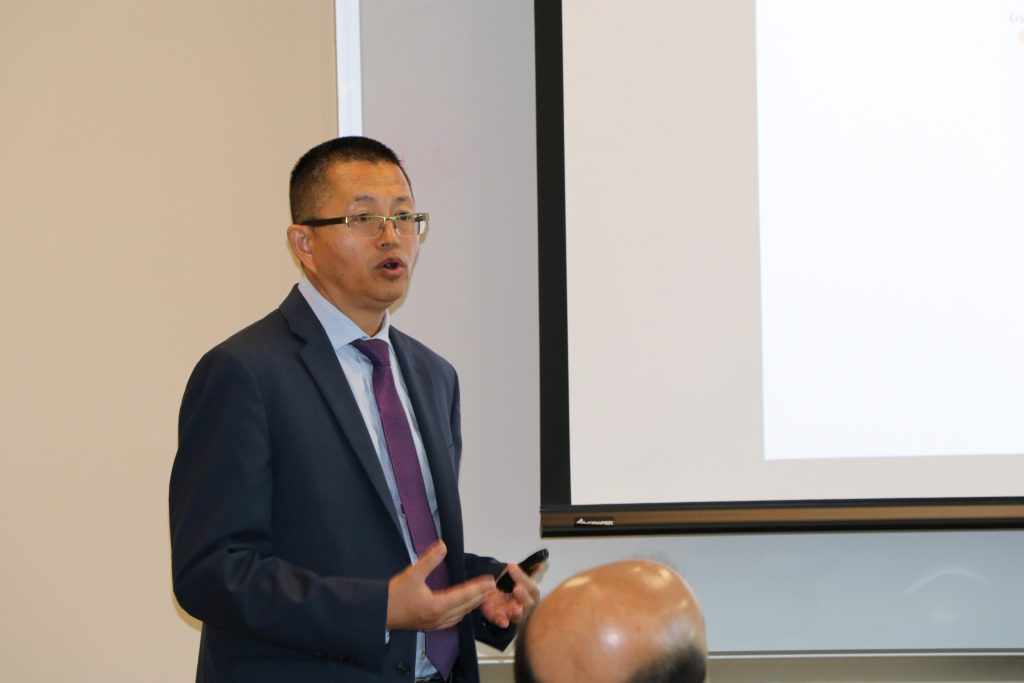 Yan Liu, PhD, presenting at Showalter awards