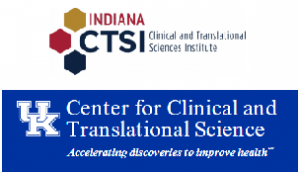 Graphic showing Indiana CTSI and UK CTSA logos