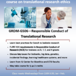 Responsible Conduct of Research class