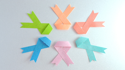 photo of six ribbons of different colors