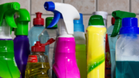 photo of bottles of cleaning supplies
