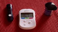 photo of diabetes medication and glucose monitor