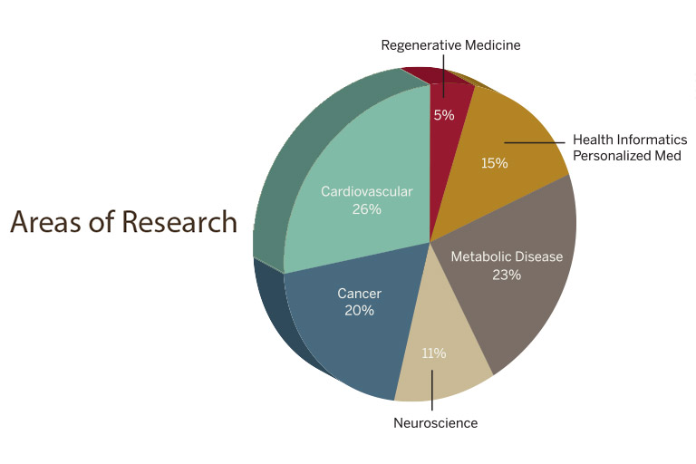 Areas of Research Pie Chart