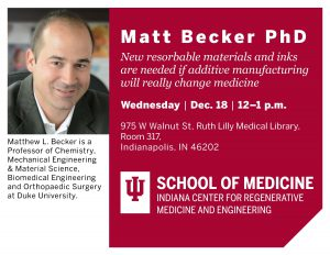 Matt Becker event flyer